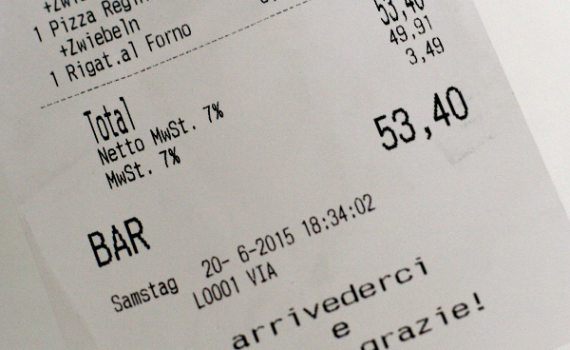Kassenbeleg Mehrwertsteuer
