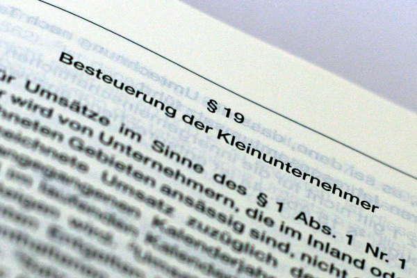 § 19 Umsatzsteuergesetz Kleinunternehmer Regelung